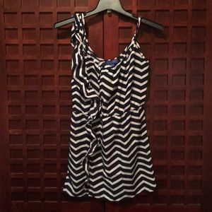 Blue and white zig-zag pattern Envy Me dress.